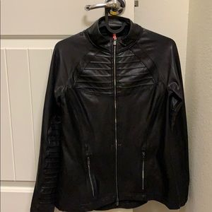 Spanx faux leather jacket S